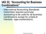 ias 22 accounting for business combinations