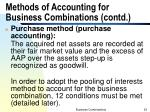 methods of accounting for business combinations contd1