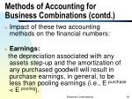 methods of accounting for business combinations contd2