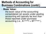 methods of accounting for business combinations contd3