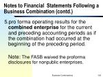 notes to financial statements following a business combination contd1