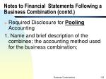notes to financial statements following a business combination contd2