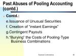 past abuses of pooling accounting contd2