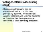 pooling of interests accounting contd
