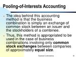 pooling of interests accounting