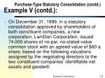 purchase type statutory consolidation contd example v contd3