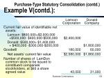 purchase type statutory consolidation contd example v contd4