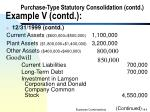 purchase type statutory consolidation contd example v contd9