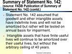summary of statement no 142 source fasb publication of summary of statement no 142 contd1