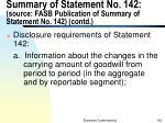 summary of statement no 142 source fasb publication of summary of statement no 142 contd3