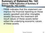 summary of statement no 142 source fasb publication of summary of statement no 142 contd5
