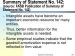 summary of statement no 142 source fasb publication of summary of statement no 142