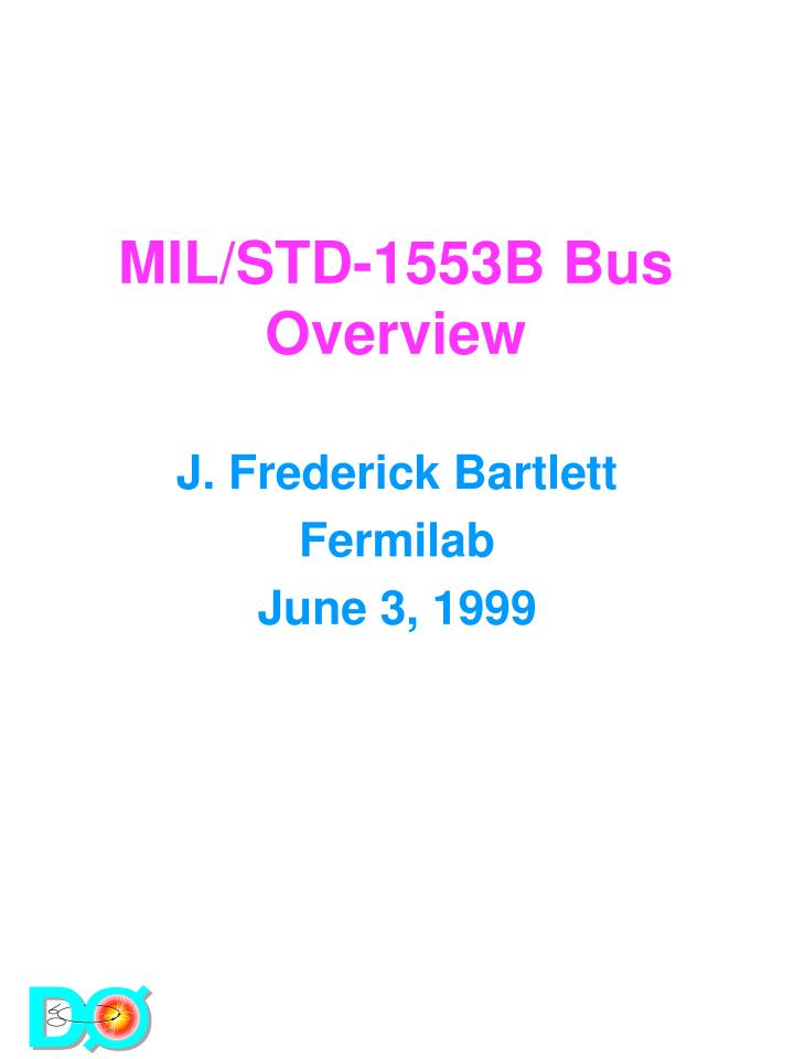 Mil std 1553b bus overview