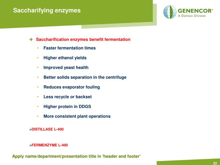 Saccharifying enzymes