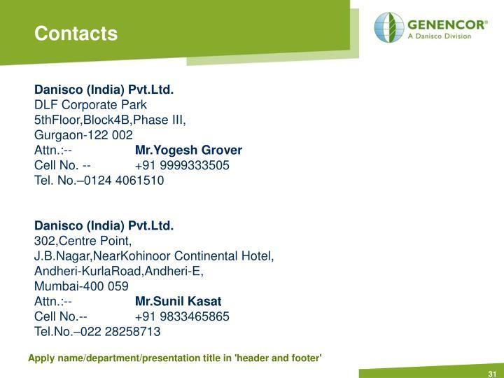 Danisco (India) Pvt.Ltd.