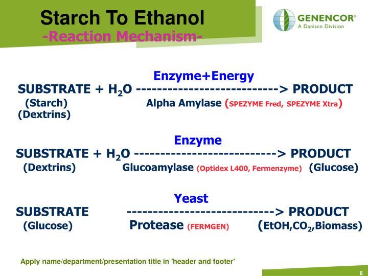 Starch To Ethanol