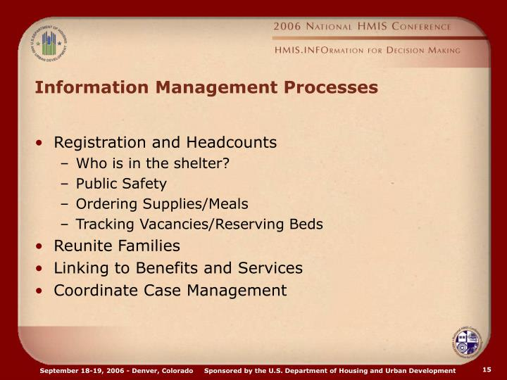 Information Management Processes