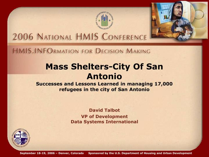 Mass Shelters-City Of San Antonio