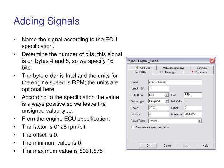 Adding Signals
