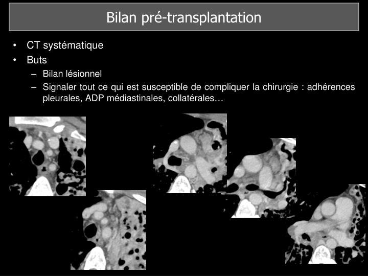 Bilan pré-transplantation