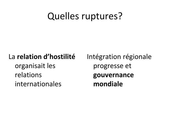 Intégration régionale progresse et