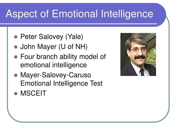 Aspect of Emotional Intelligence