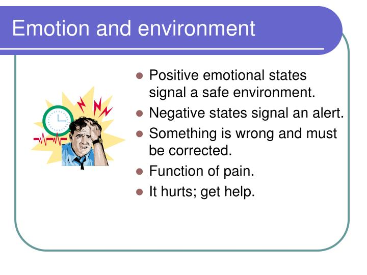 Emotion and environment