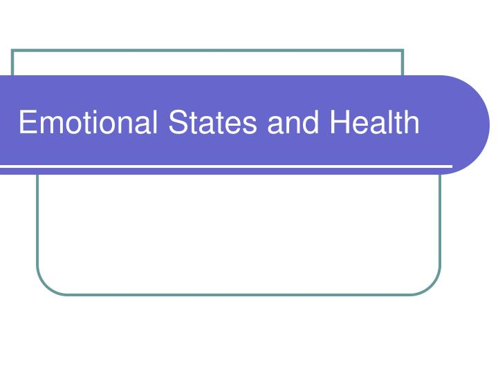 emotional states and health n.