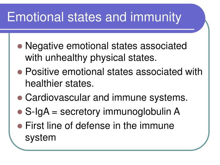 Emotional states and immunity