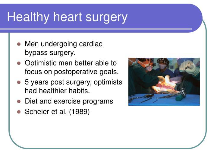 Healthy heart surgery