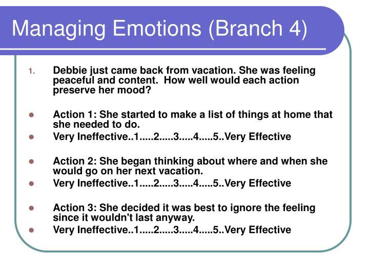 Managing Emotions (Branch 4)