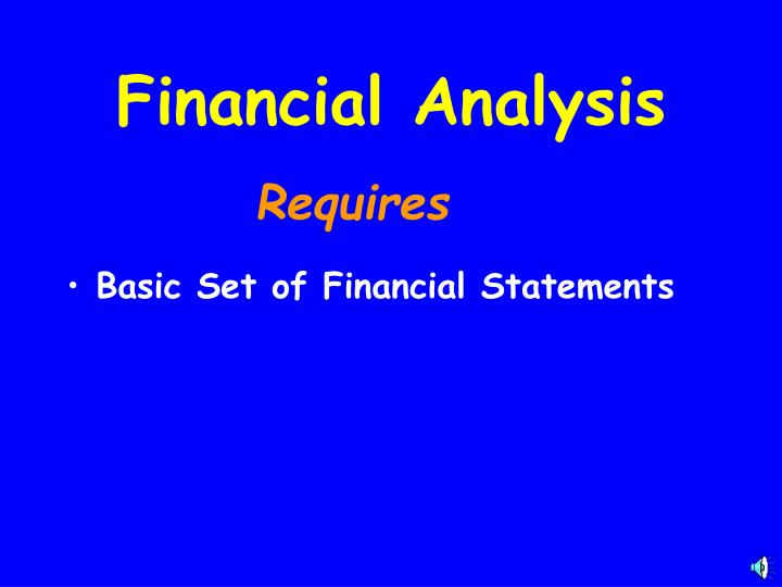 Basic Set of Financial Statements