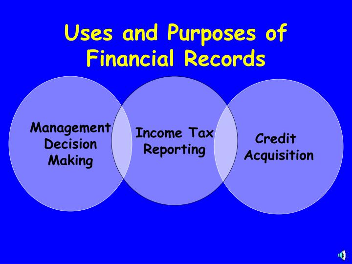 Uses and Purposes of Financial Records