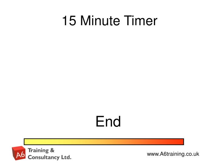 15 Minute Timer