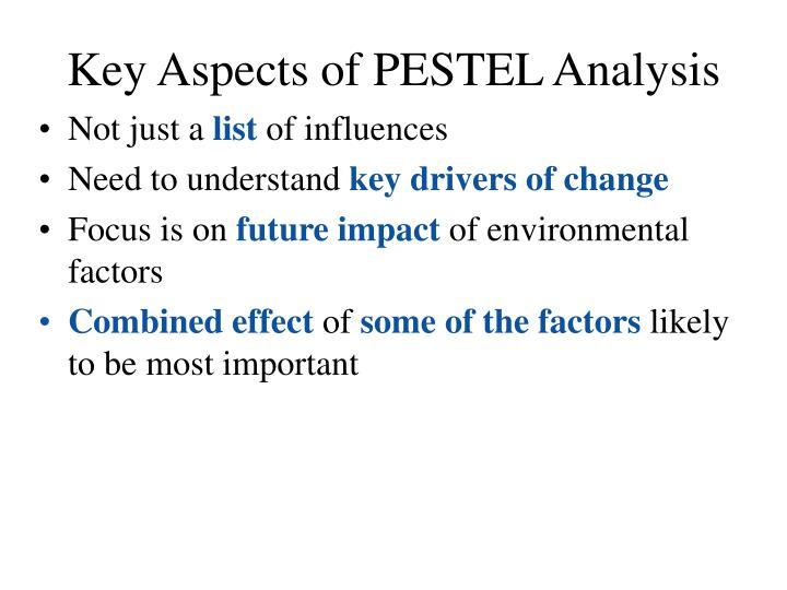Key Aspects of PESTEL Analysis
