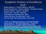 academic centers of excellence ace