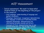 ace 3 assessment