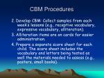 cbm procedures1