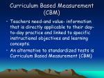 curriculum based measurement cbm
