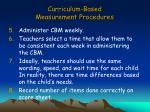 curriculum based measurement procedures