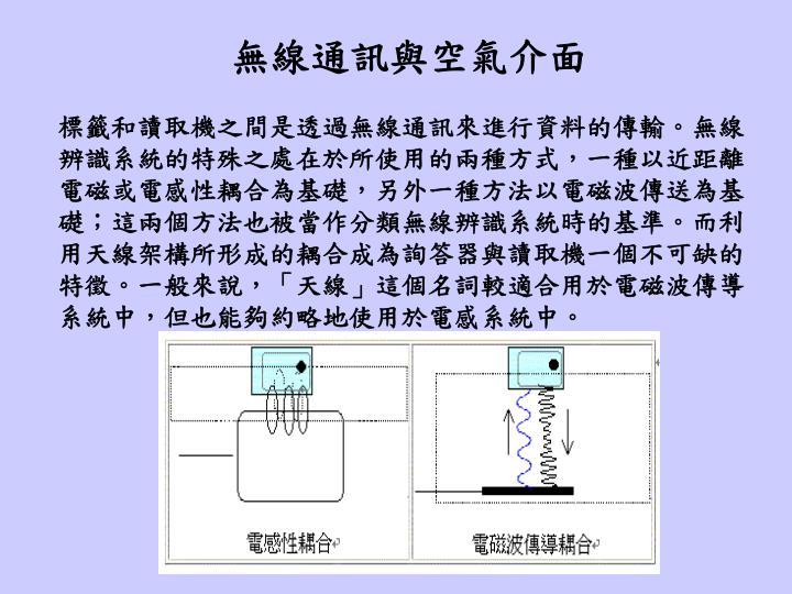 無線通訊與空氣介面