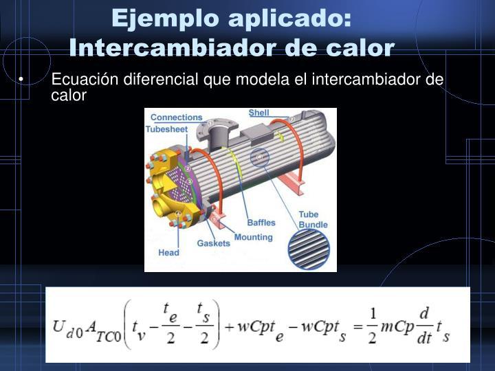 Ejemplo aplicado: Intercambiador de calor