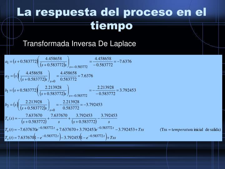 La respuesta del proceso en el tiempo