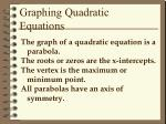 graphing quadratic equations