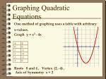 graphing quadratic equations1