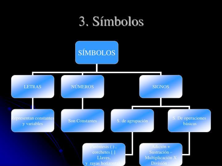 3. Símbolos