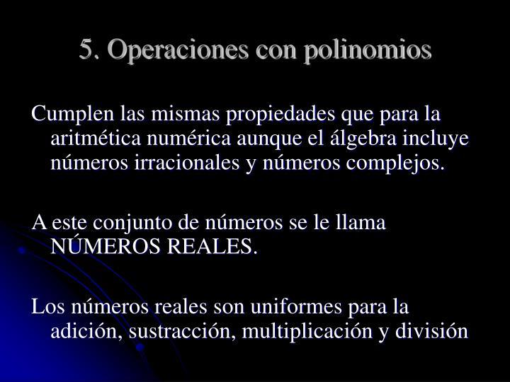 5. Operaciones con polinomios