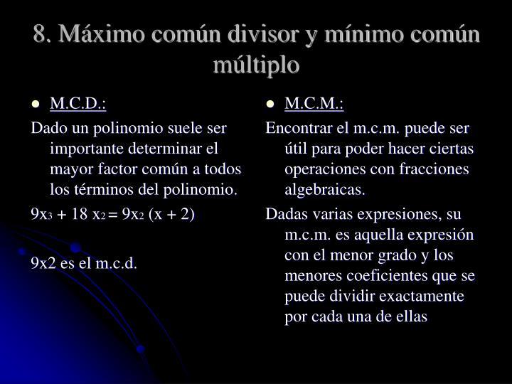 M.C.D.: