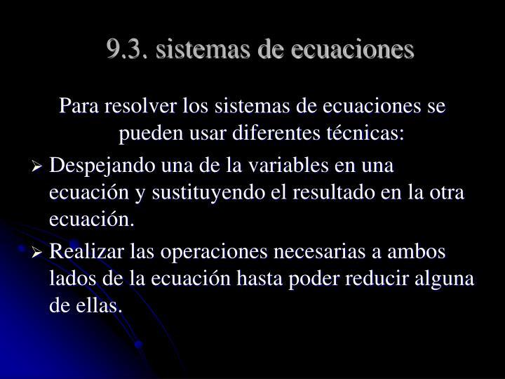 9.3. sistemas de ecuaciones