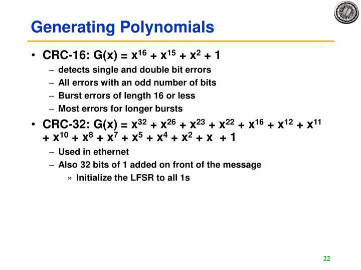 Generating Polynomials